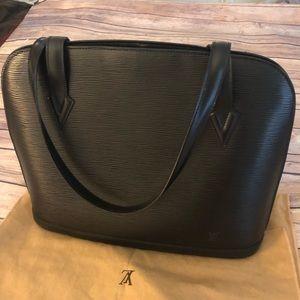 Louis Vuitton Epi Ryu Sac black leather bag